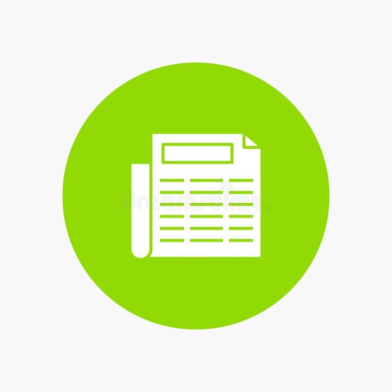 Noticias, papel, documento stock de ilustración