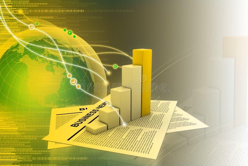 Noticias y gráfico de negocio libre illustration