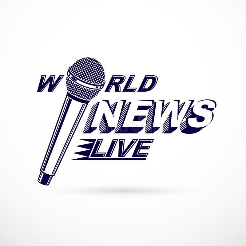 Noticias y hechos que divulgan el logotipo del vector compuesto usando las noticias de mundo i libre illustration