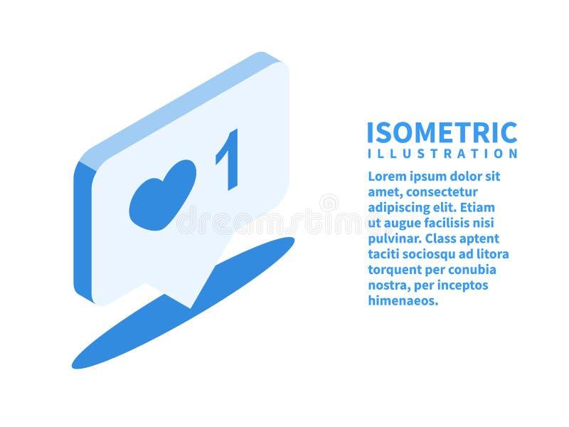 Notificación contraria, como icono Plantilla isométrica para el diseño web en el estilo plano 3D Ilustración del vector ilustración del vector