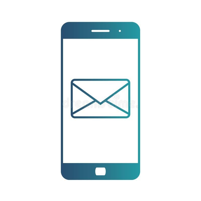 Notificación de un correo electrónico entrante a un smartphone Envío por correo electrónico, Spam, comercio electrónico E libre illustration