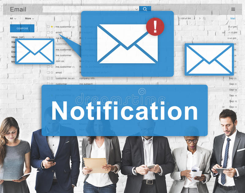 Notification Alert Digital Icon Internet Network Concept royalty free stock images