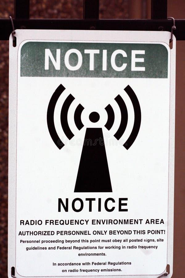 Notification de radiofréquence photographie stock libre de droits