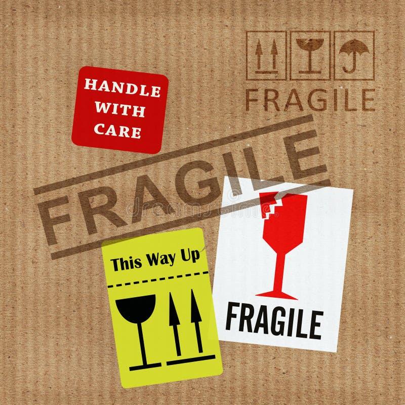 Notification fragile illustration stock