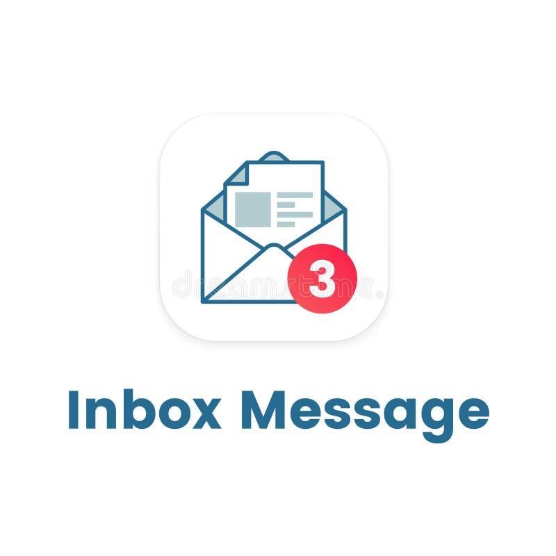 Notification Icon On Open Letter Stock Vector Illustration Of