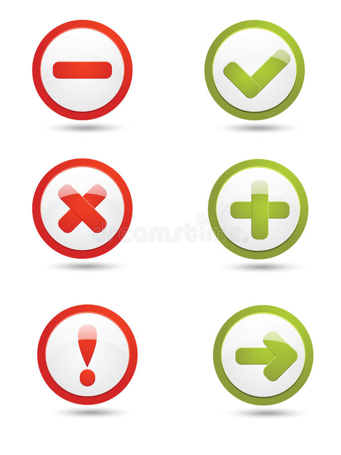 Download Notification icons stock vector. Image of glass, direct - 23500416