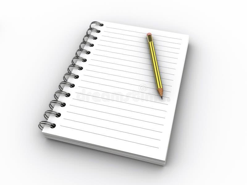 Notitieboekje royalty-vrije illustratie