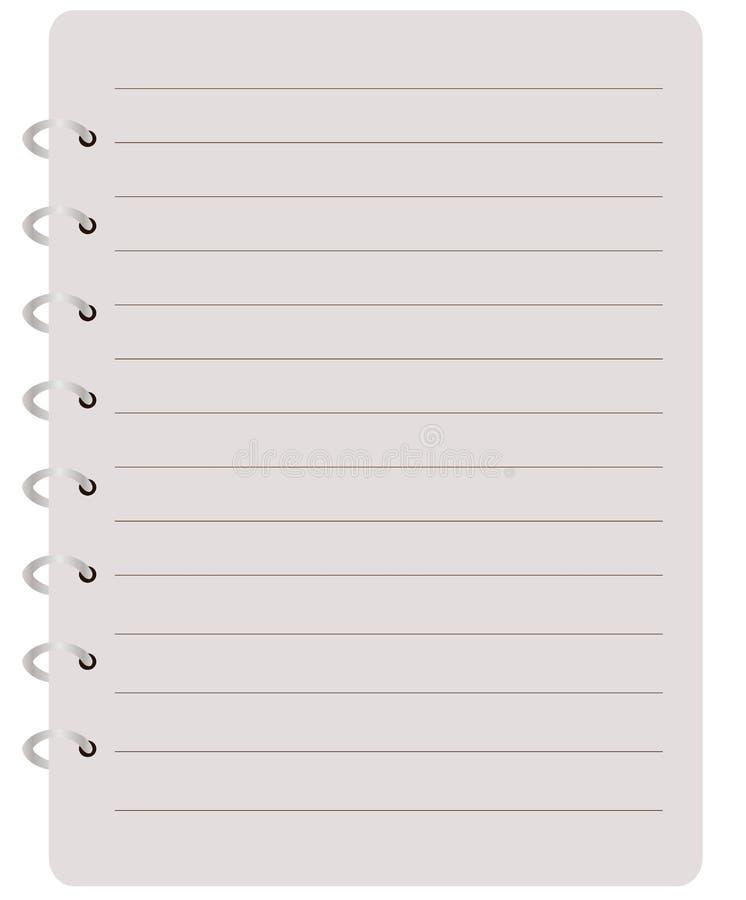 Notitieboekje stock illustratie
