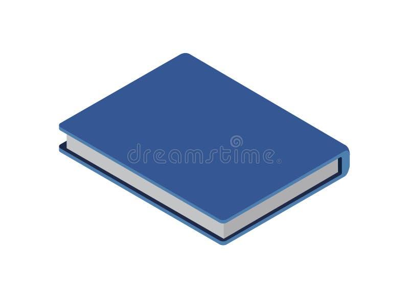 Notitieboekje of agenda isometrisch 3D pictogram vector illustratie
