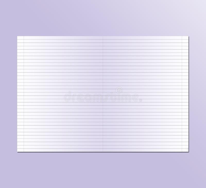 Notitieboekje in de lijn voor school stock foto's