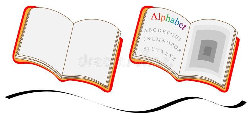 Notitieboekje en boek op witte achtergrond stock afbeelding
