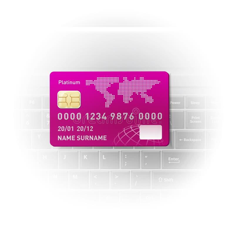 Notitieboekje en een creditcard royalty-vrije illustratie