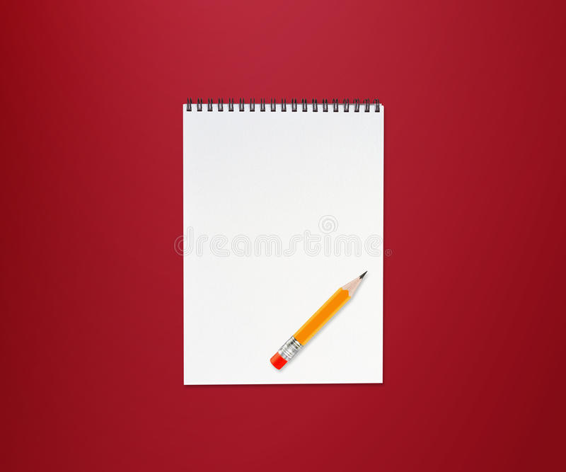 Notitieboekje en potlood stock illustratie