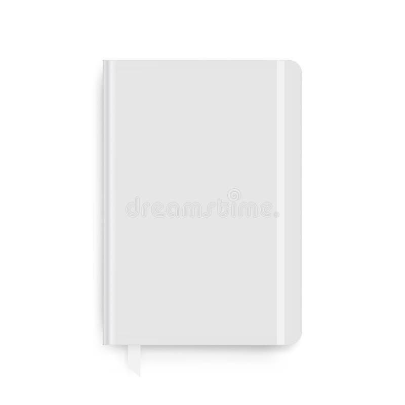 Notitieboekje met geïsoleerd referentiemodel stock illustratie