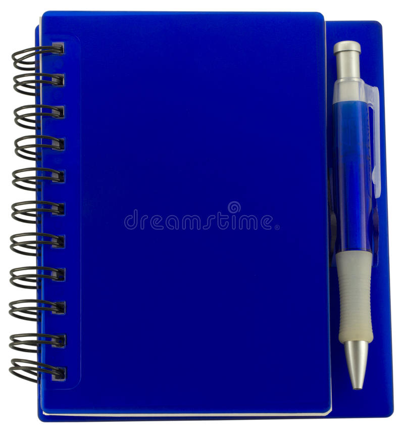 Notitieboekje met pen stock afbeelding