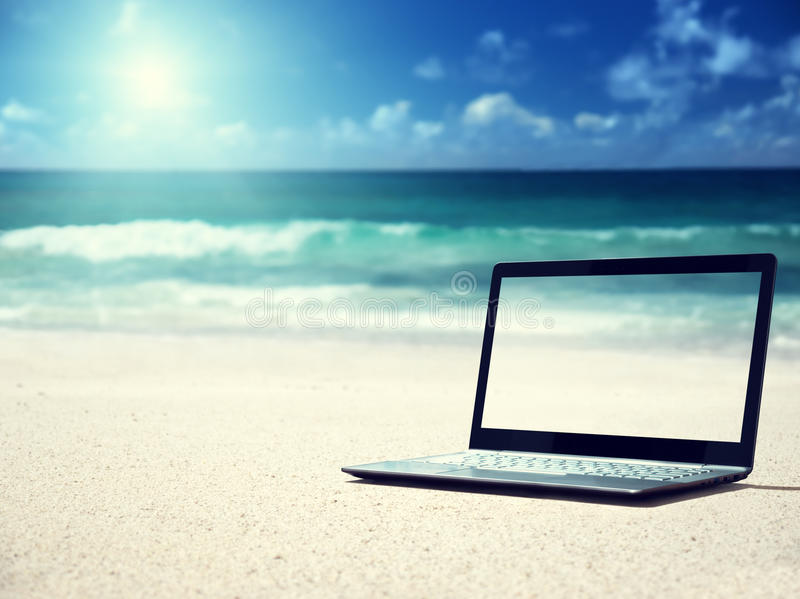 Notitieboekje op het strand royalty-vrije stock fotografie