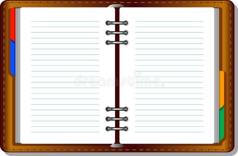 Notitieboekje (organisator) stock illustratie