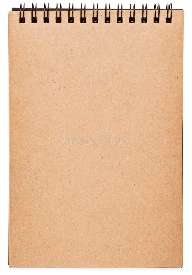 Notitieboekje oud die document over wit wordt geïsoleerd royalty-vrije stock fotografie