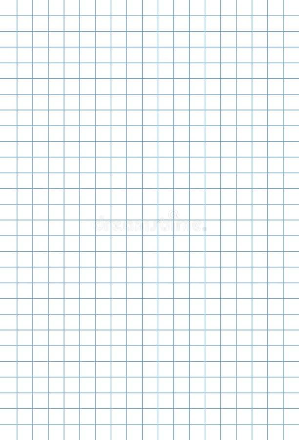 Notitieboekjeblad op een kooiachtergrond stock illustratie