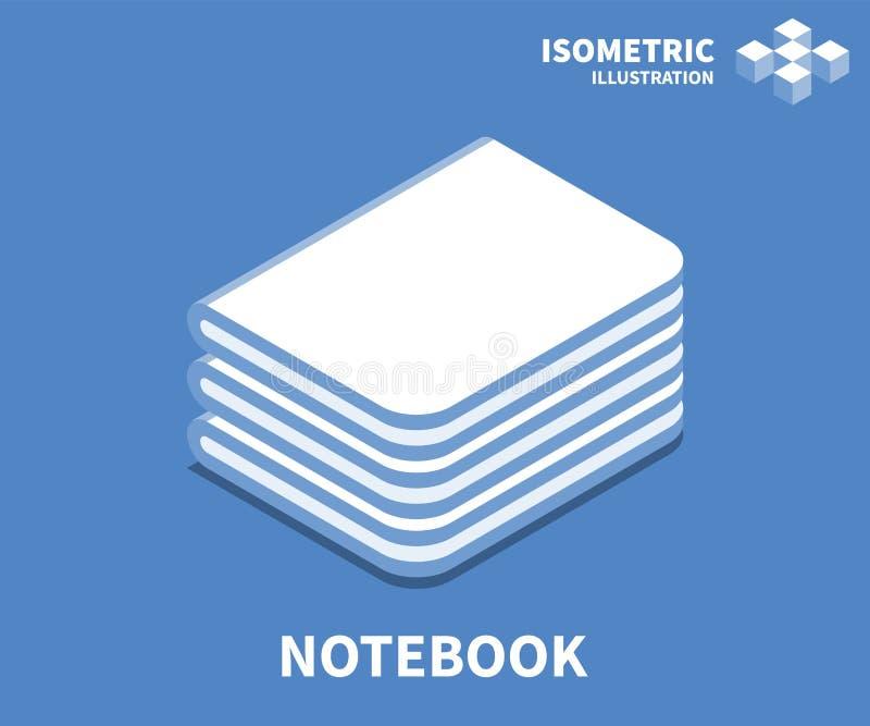 Notitieboekjepictogram, vectorillustratie in vlakke isometrische 3D stijl vector illustratie