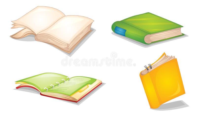 Notitieboekjes royalty-vrije illustratie