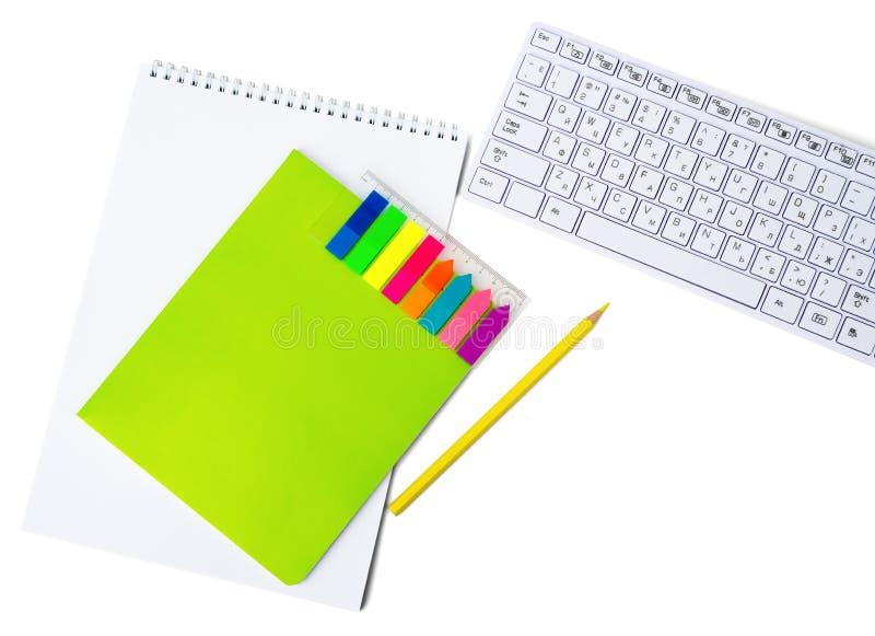 Notitieboekjes met toetsenbord stock afbeeldingen