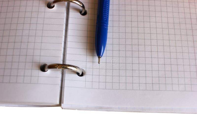 Notizblock auf dem Schreibtisch, Büroarbeit stockfotos