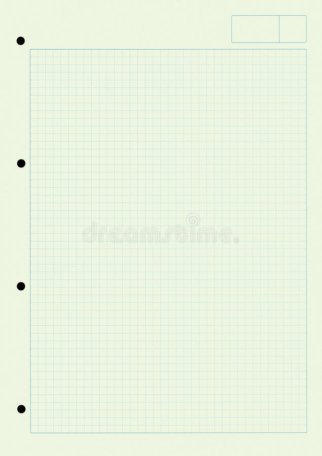 Notizblock - Papier mit quadratischem Muster und Löchern lizenzfreies stockfoto