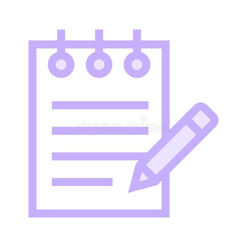 Notizblockfarblinieikone lizenzfreie abbildung