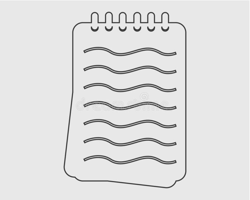 Notizblocklinie Ikone vektor abbildung