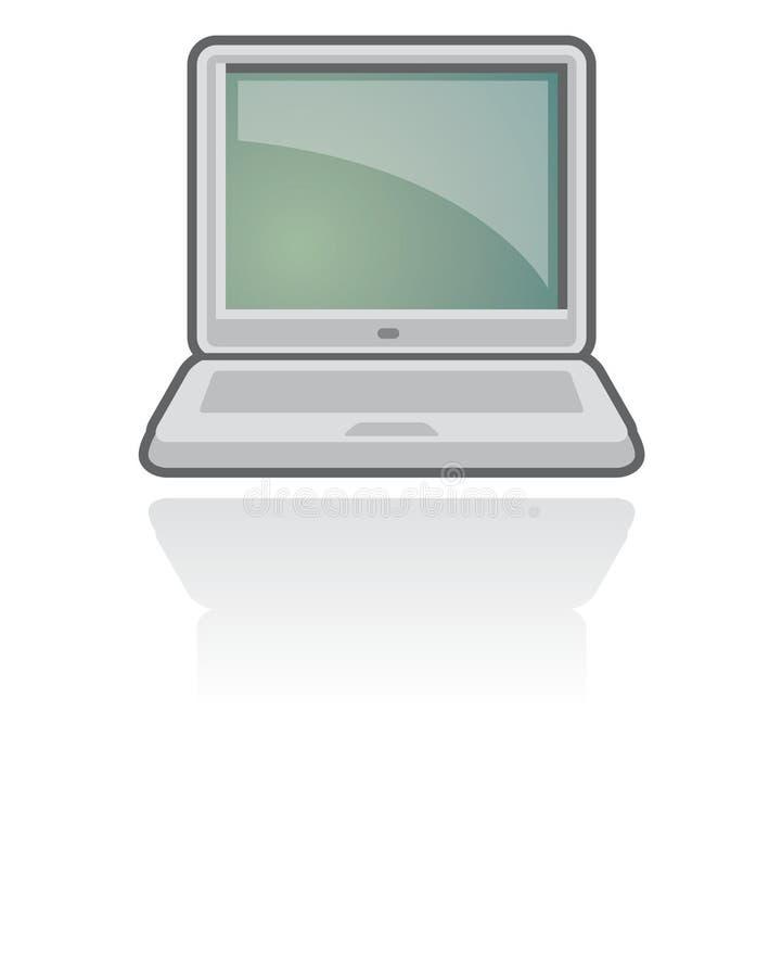 Notizbuch-/Laptop-Ikonen-Vektor   lizenzfreie abbildung