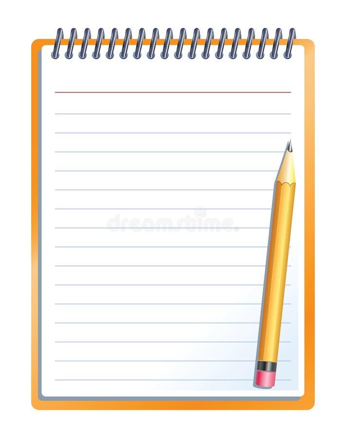 Notizbuch mit Bleistift vektor abbildung