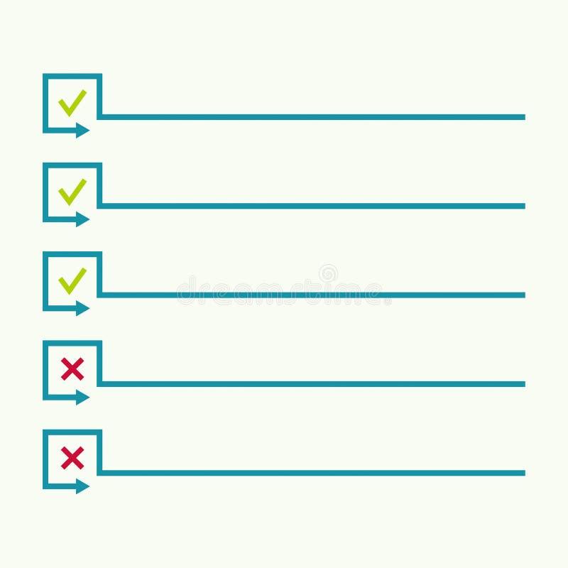 Notizbuch mit, zum der Liste zu tun lizenzfreie abbildung