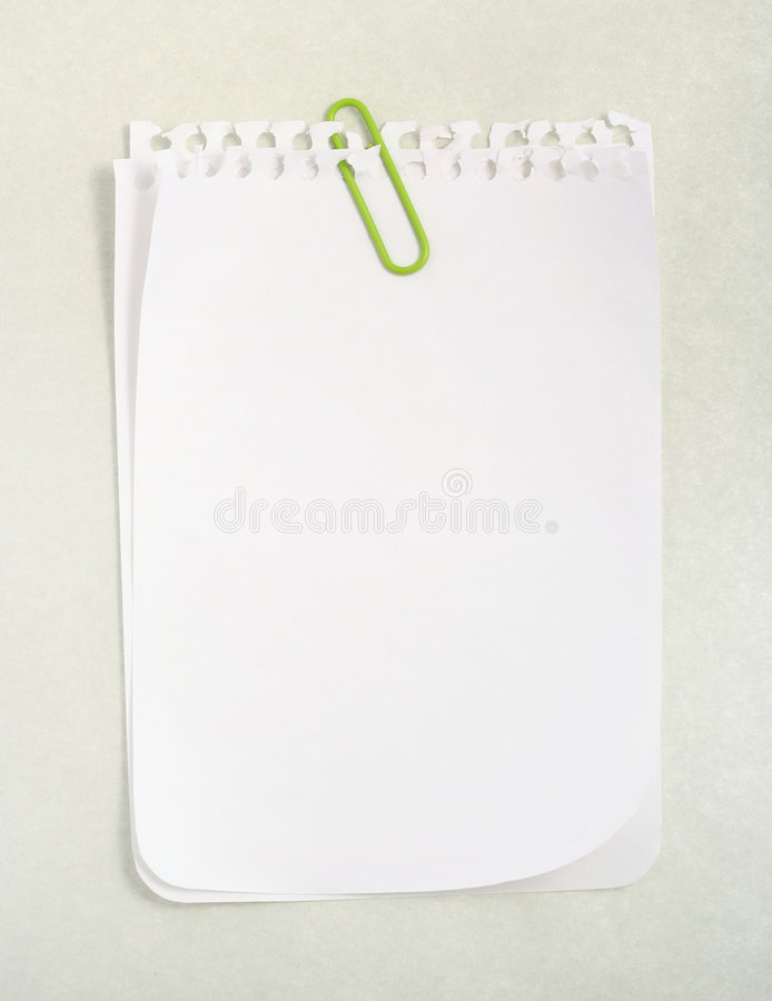 Notizbuch-Papier lizenzfreies stockbild