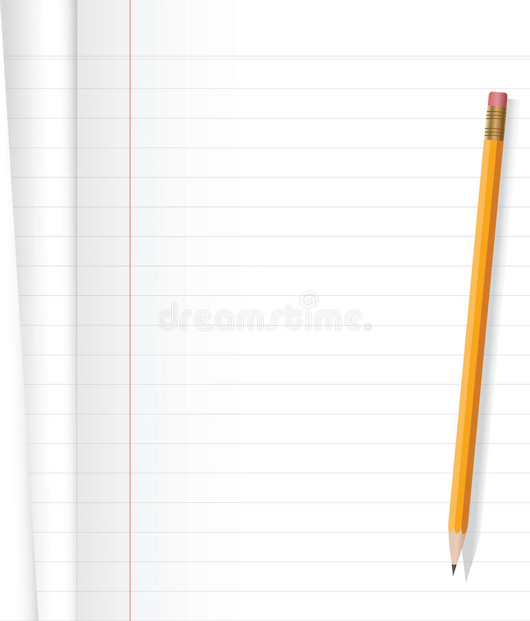 Notizbuch und Bleistift stock abbildung