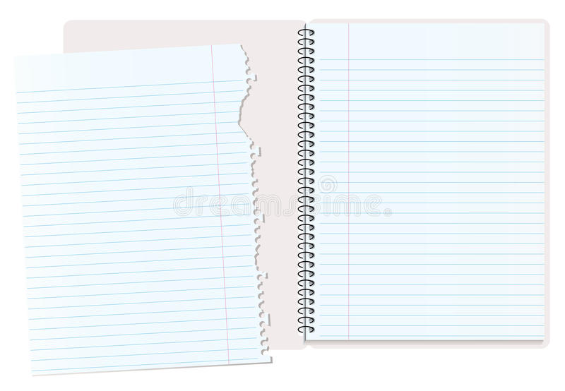 Notizbuch zerrissen stock abbildung