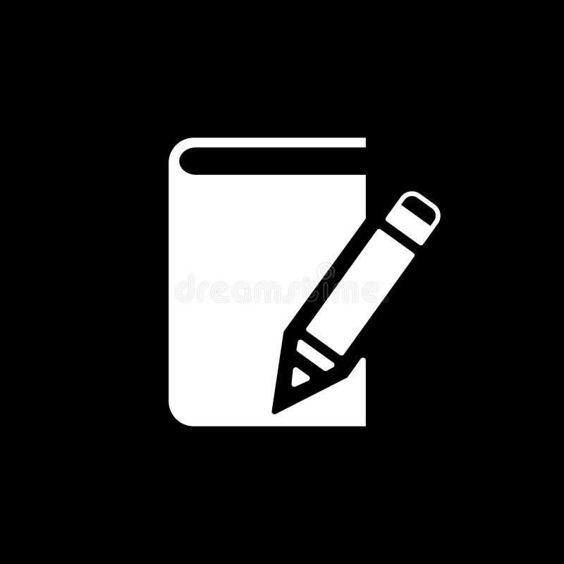 Notizbuchikone ENV 10 Tagebuch und Sketchpad, Notizbuchsymbol web graphik jpg ai app zeichen nachricht flach vektor abbildung