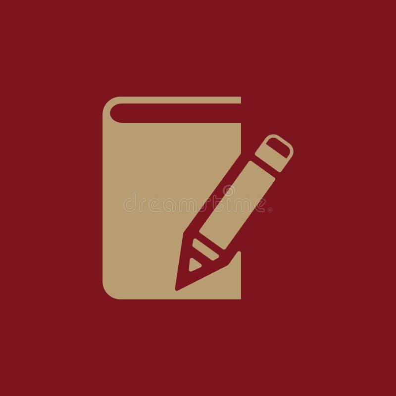 Notizbuchikone ENV 10 Tagebuch und Sketchpad, Notizbuchsymbol web graphik jpg ai app zeichen nachricht flach stock abbildung
