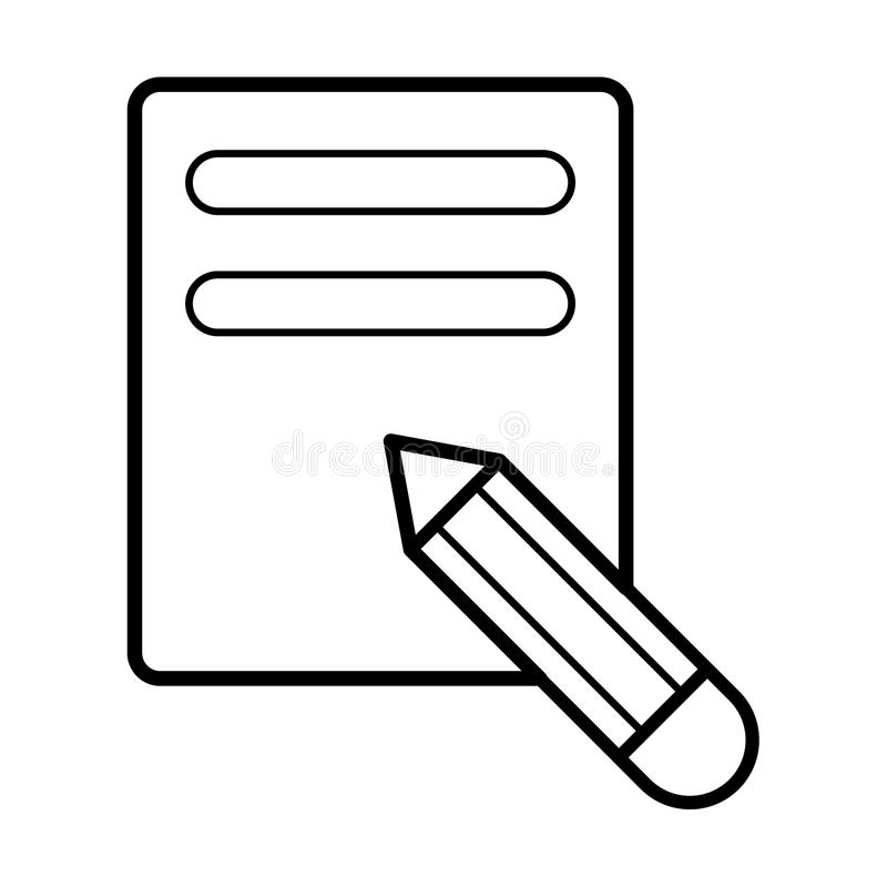 Notizbuchikonenillustration lizenzfreie abbildung