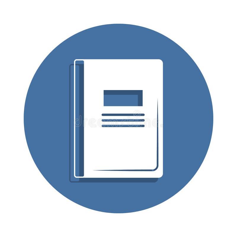 Notizbuchvektorikone in der Ausweisart Ein der Bildungssammlungsikone kann für UI UX verwendet werden stock abbildung