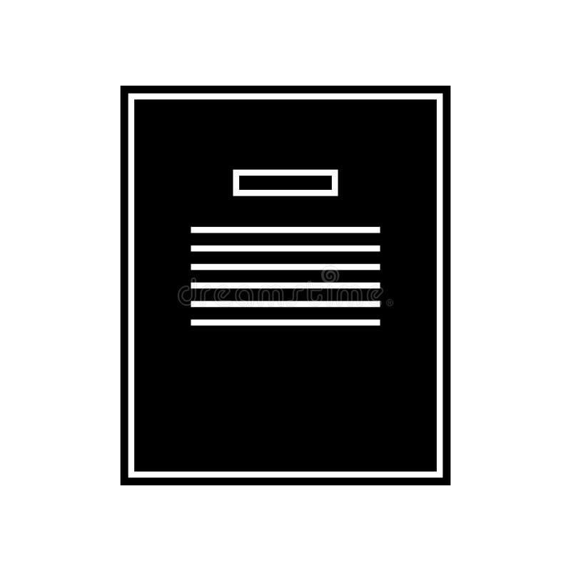 Notizbuchvektorikone Element der Bildung f?r bewegliches Konzept und Netz apps Ikone Glyph, flache Ikone f?r Websiteentwurf und lizenzfreie abbildung