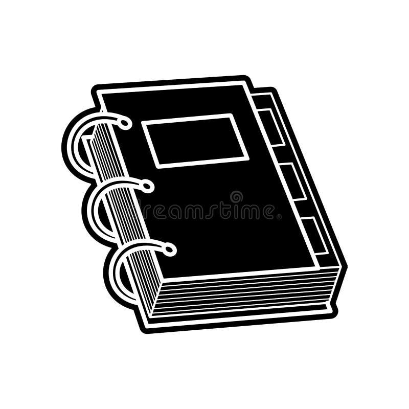 Notizbuchvektorikone Element der Bildung f?r bewegliches Konzept und Netz apps Ikone Glyph, flache Ikone f?r Websiteentwurf und stock abbildung