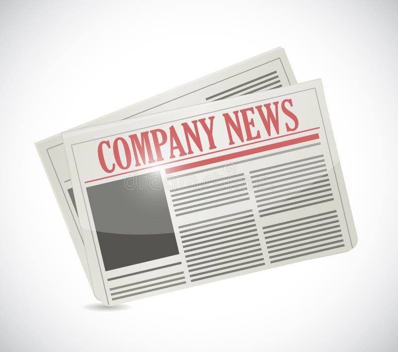 Notizie della società Illustrazione del giornale illustrazione di stock