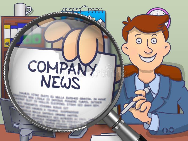 Notizie della società tramite la lente Concetto di scarabocchio royalty illustrazione gratis