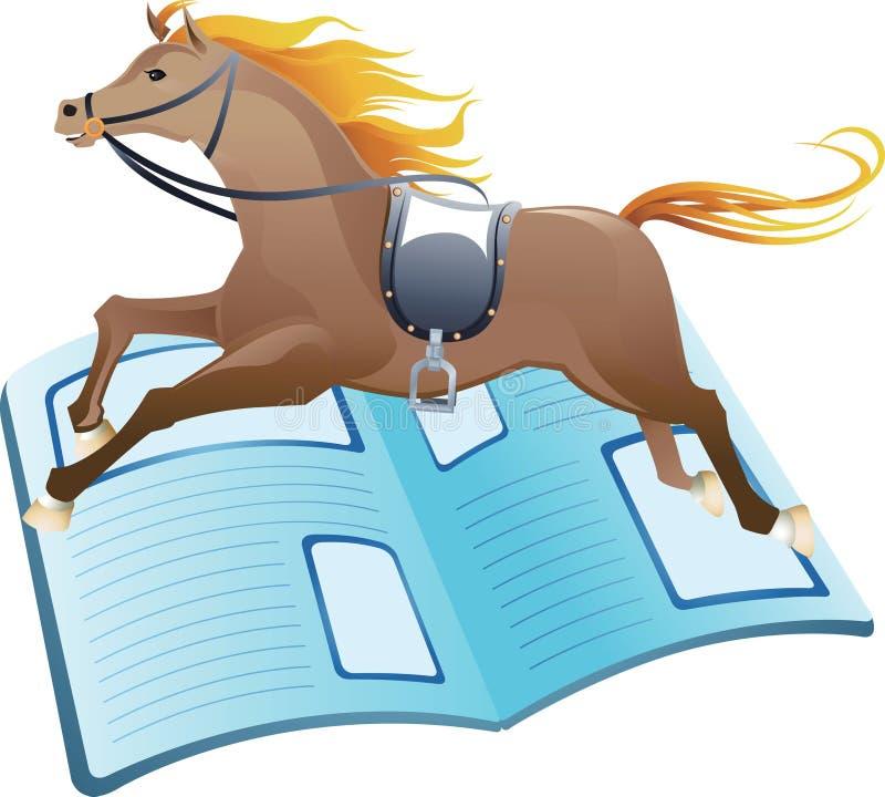 Notizie di corsa di cavalli illustrazione vettoriale