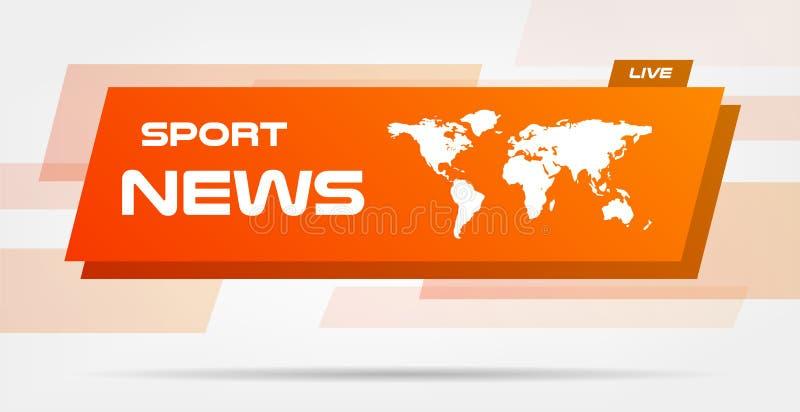 Notizie di mondo Live Banner sulle linee ondulate fondo Fondo di notizie di tecnologia di affari Illustrazione di vettore Vettore royalty illustrazione gratis