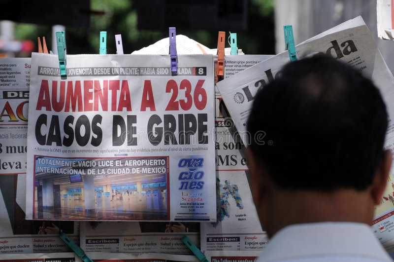 Notizie di riossidazione nel Messico fotografia stock libera da diritti