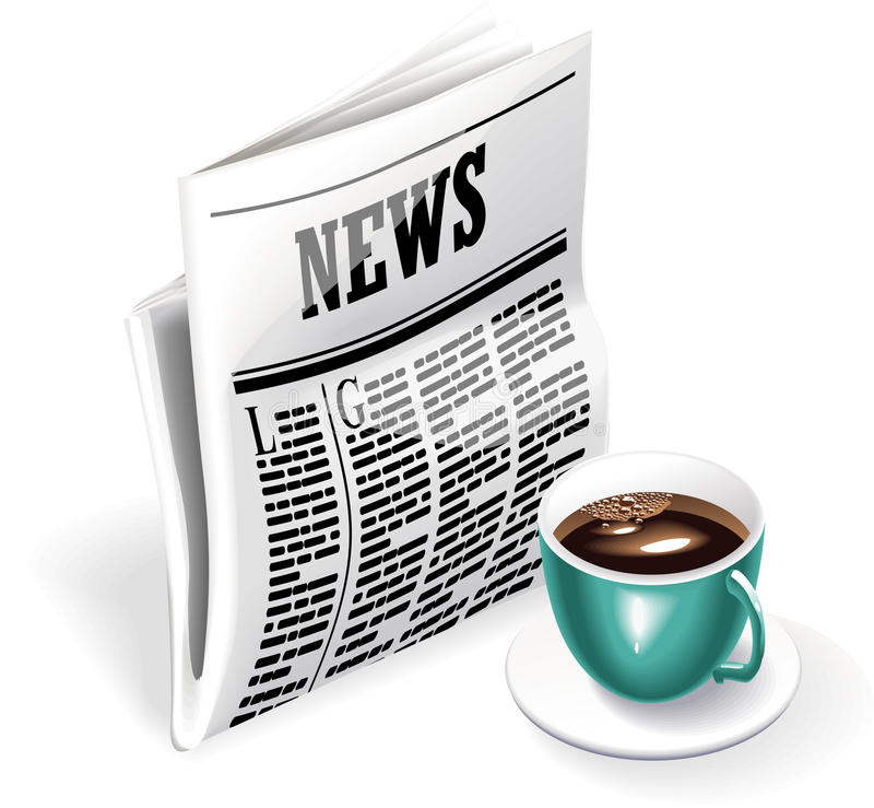Notizie e collage dei giornali illustrazione vettoriale