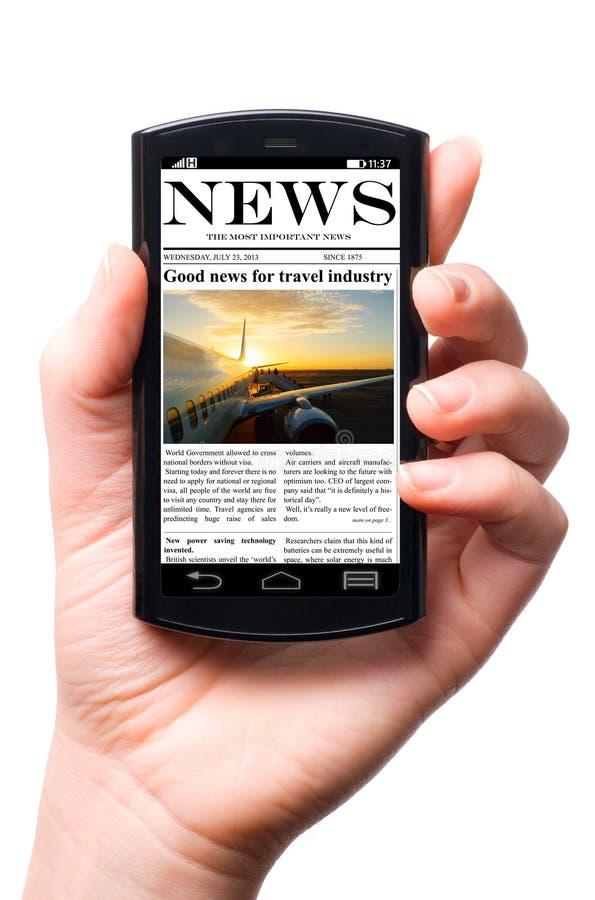 Notizie mobili immagini stock