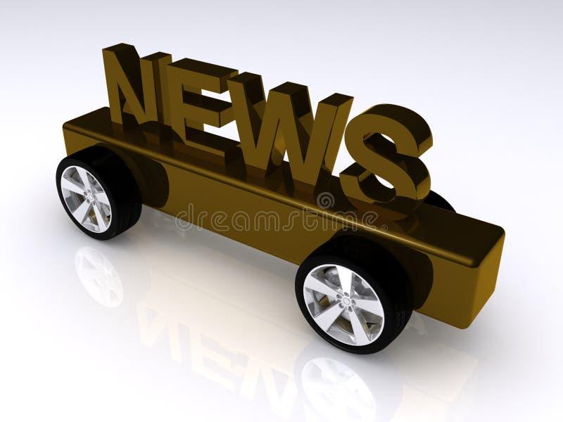 Notizie sulle rotelle royalty illustrazione gratis